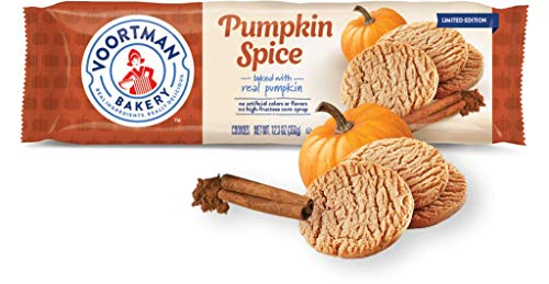 Voortman Bakery Pumpkin Spice Cookies - Baked with Real Pumpkin and Other Fresh Ingredients, No Artificial Colors, Flavors or High-Fructose Corn Syrup (Pack of 4)