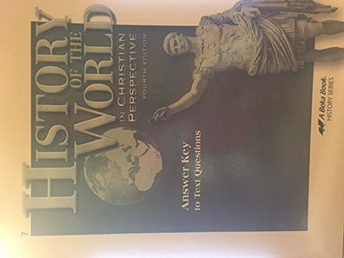 History of the World in Christian Perspective (Answer, used for sale  Delivered anywhere in USA