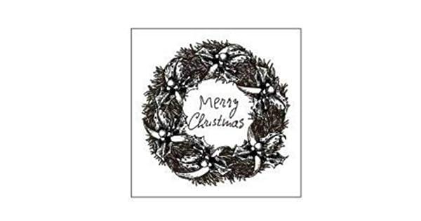 Amazon.com: 1 sello de goma de madera con sello de Navidad ...