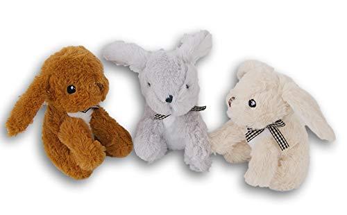 Daisy Gifts Easter Miniature Plush Stuffed Animal Set - 3 Bunny Rabbits