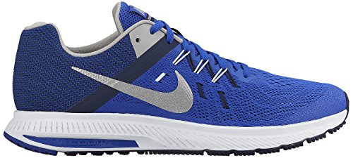 Nike Zoom Winflo 2 Mens Running Trainers 807276 Sneakers Shoes (UK 6 US 7 EU 40, Racer Blue Metallic Silver 402)