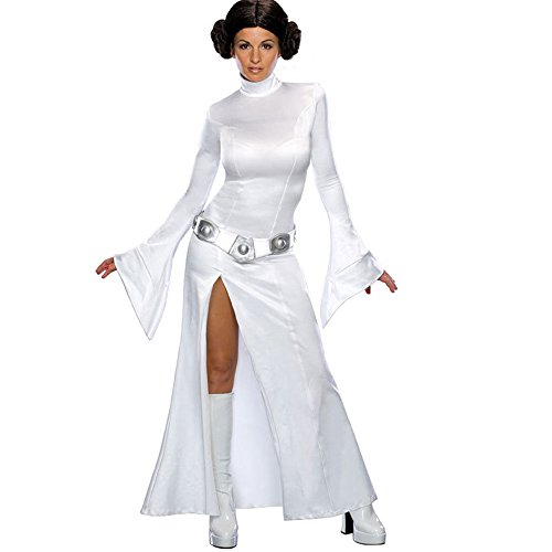Princess Leia Makeup (Halloween Eve Princess Leia Makeup Party Female Dress Cosplay Costume (Large, White))