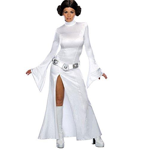 Princess Leia Slave Halloween Costume (Halloween Eve Princess Leia Makeup Party Female Dress Cosplay Costume (Large, White))