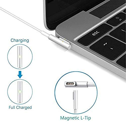 Before Mid 2012 Models MacBook Pro Charger Replacement 60WL-Tip Magsafe Power Adapter for MacBook Pro Charger 13-Inch