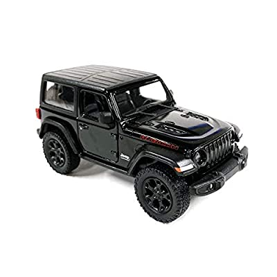 Jeep Wrangler Rubicon 4x4 Hard Top Off Road Exploration Diecast Model Toy Car Black: Toys & Games