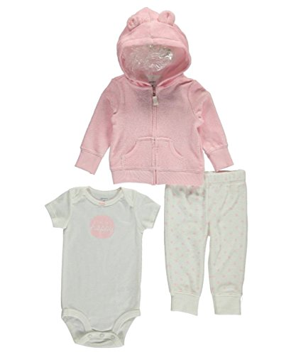 Carter's Baby Girls 3 Pc Sets 126g280, Pink, 9 Months