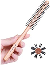 Small Round Brush for Short Hair, 1 Inch Mini Quiff Roller for Women and Men, Best for Thin Hair, Bangs, Beard, Styling, Lifting, Curling