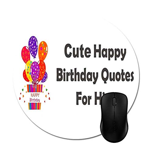 Amazon com : Wishes to Happy Birthday Quotes Mouse Pads 9 25