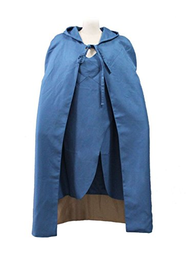 COSAUG Khaleesi Costume Daenerys Targaryen Blue Dress Cosplay -