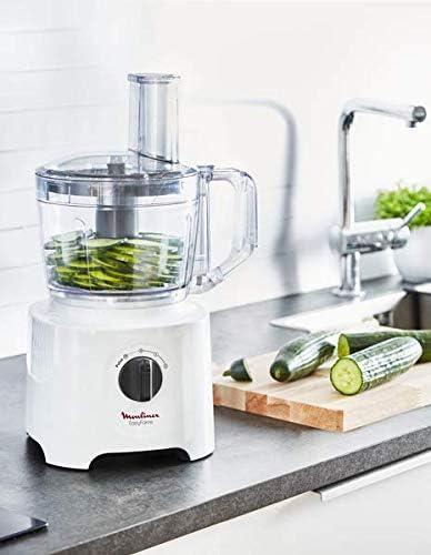 Moulinex FP2461 Easy Force Robot de cuisine tout en un, 6 accessoires pour 25 fonctions différentes, capacité du bol 2,4 l