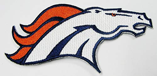 NFL Denver Broncos Horsehead Embroidered Patch Iron ON 4 1/2