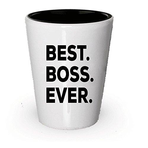 Boss Gift - Best Boss Ever Shot Glass For Women Men - Apprec