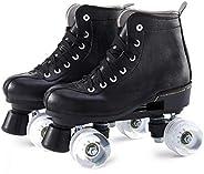 Roller Skates Women's Classic Roller Skates - Premium PU Leather Rink Skates for Women Unisex Girls Boys (