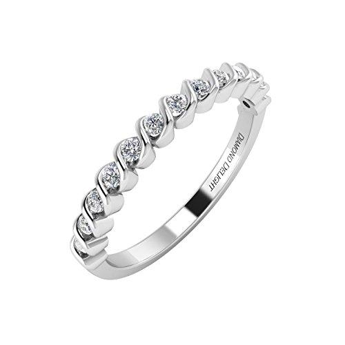 Gold diamond band rings