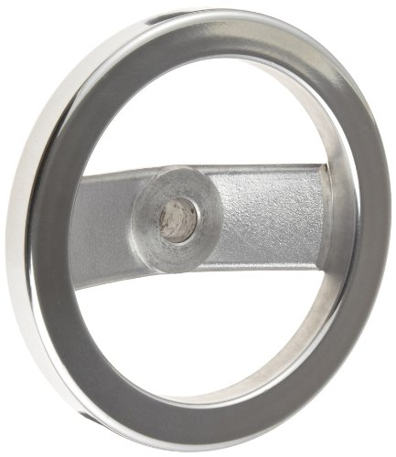 2 Spoked Polished Aluminum Dished Hand Wheel without Handle, 6'' Diameter, 5/8'' Hole Diameter, (Pack of 1) by Monroe