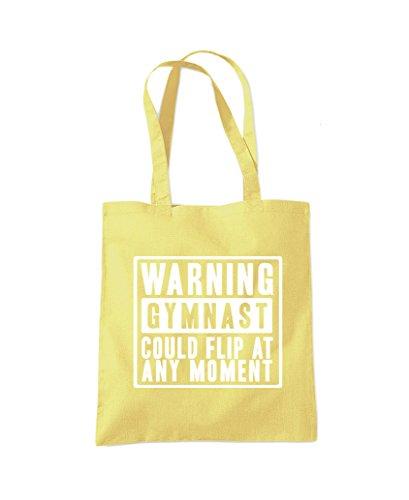 Lemon Moment Flip Shopper Tote Bag Yellow at Gymnast Could Fashion Gym bag Any Warning S6wF7Wq