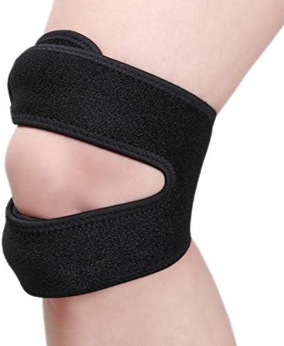 WINOMO 2 stück Sport Knieschoner Knieorthese elastische einstellbar Patella Kniebandage Kniegurt für Training Fitness Recovery