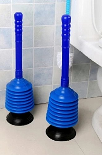 Hechgobuy Pümpel Unblocker for Cleaning Toilet Drain Plunger with Suction Cups