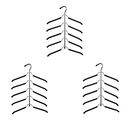 YUREN Friction Blouse Tree Hangers Coat Hangers Organizer -- 5 layers coats hanger (pack of 3)