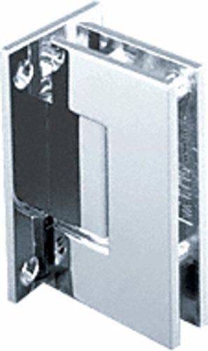 CRL Geneva 037 Series Chrome Wall Mount Full Back Plate Standard Hinge