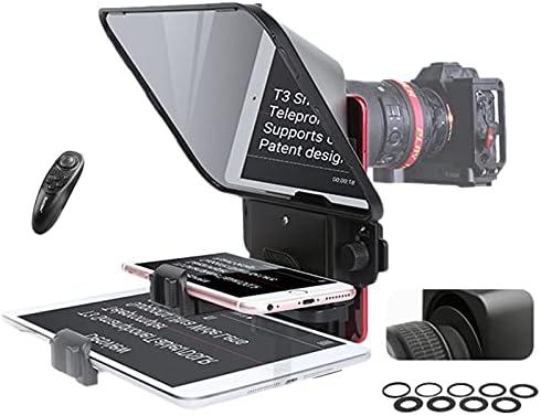 Teleprompter Desview T3 para teléfono inteligente, tableta, cámara DSLR con control remoto,compatible con cristal gran angular para voz en el escena, transmisión en vivo, video en tangente, vlog