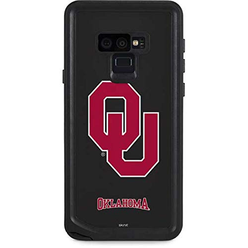 Skinit University of Oklahoma Galaxy Note 9 Waterproof Case - Oklahoma Sooners Black Design - Sweat-Proof, Snow-Proof, Dirt-Proof, Dust-Proof Phone Cover