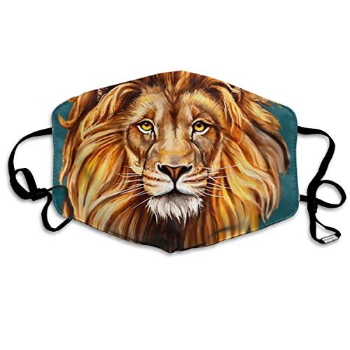 Mouth Masks Head of Lion King Earloop Mouth Mask - Adjustable Elastic Band for Painting Outdoor, Anti Anti-Dust Respirator, Half Face Mouth Mask/Cover -