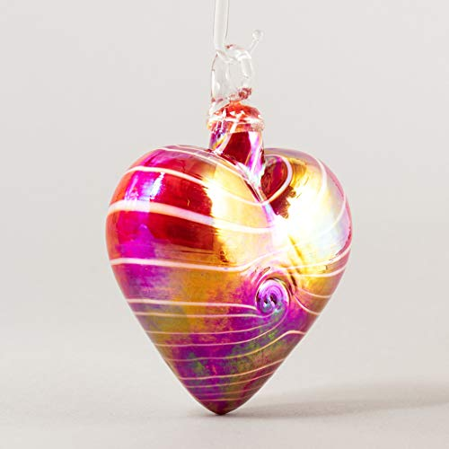 Glass Eye Studio 2020 Cupid Red Heart Ornament
