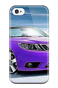 Iphone 4/4s Hard Back With Bumper Silicone Gel Tpu Case Cover Car