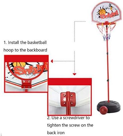 子供のバスケットボールは、屋内ラックとアウトドアスポーツバスケットボールボードはベビーベビー撮影フレーム幼稚園のおもちゃを持ち上げることができます