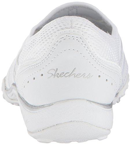 Le Donne Di Skechers Respirano Sneaker Ben Versato Bianco