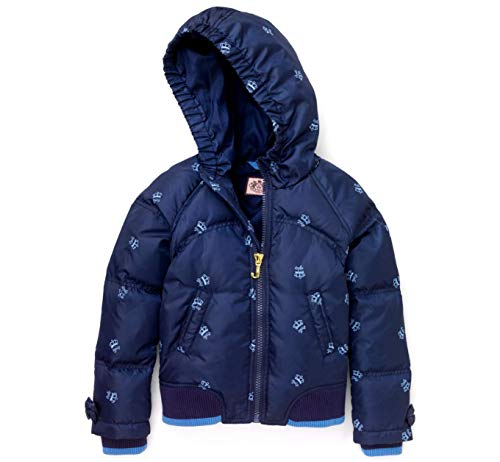 (Juicy Couture Girls Crown Embroidered Puffer Down Coat)