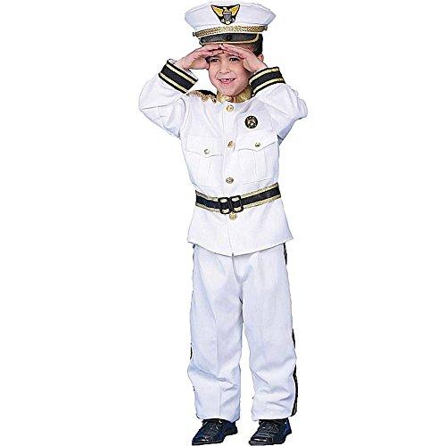 Navy Admiral Deluxe Kids Costume - (Deluxe Kid's Navy Admiral Costumes)