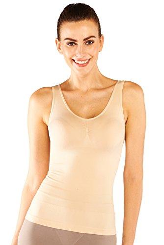 Belugue Women's Seamless Tank Tops Body Shaper Tummy Slim Control Shapewear Camisoles (Womens Seamless Tight Tank)