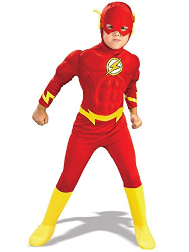 Rubie's DC Comics Deluxe Muscle Chest The Flash Child's Costume, Toddler ()
