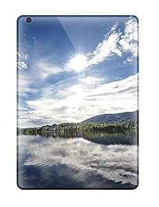Hot Design Premium PZiUvvK4361BhSsO Tpu Case Cover Ipad Air Protection Case(mirror Lake)