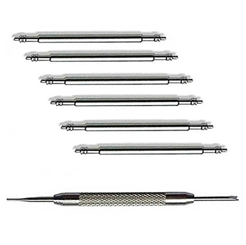 20mm Spring Bar Pins Stainless Steel Watch Pins for Attaching Watch Band to Watches or Buckle 6pcs Diameter 1.5mm by OTOPO (20mm) ()