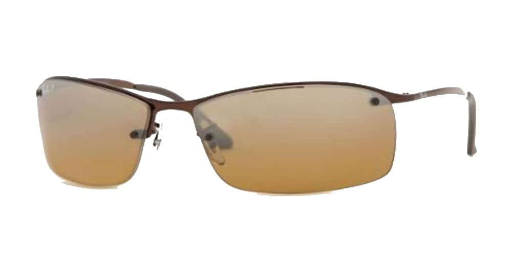Amazon.com: Ray Ban RB3183 café/café polarizadas espejo 014 ...