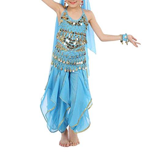TOPTIE Kid's Belly Dance Costume Set, Halter