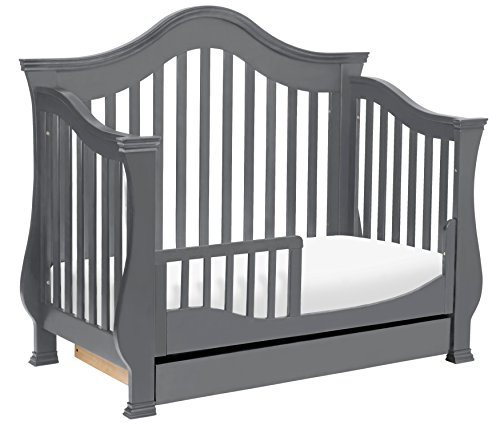 Million Dollar Baby Classic Ashbury 4-in-1 Convertible Crib with Toddler Bed Conversion Kit, Manor Grey by Million Dollar Baby Classic (Image #6)