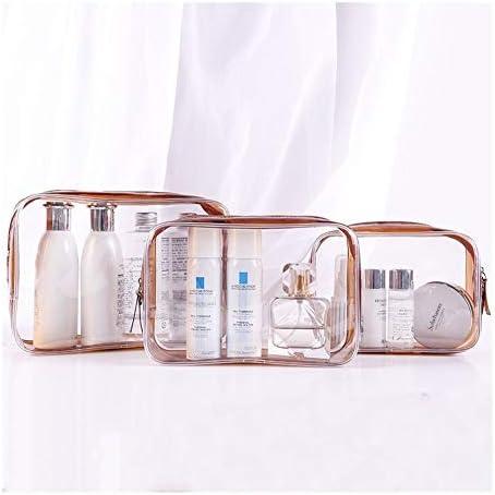 YouNITE コスメティックバッグ女性レザートラベルアップ2020メイクアップは必需オーガナイザージッパー化粧ケースポーチトイレタリーキットバッグを作ります (Color : Brown, Size : 17 12 6cm)