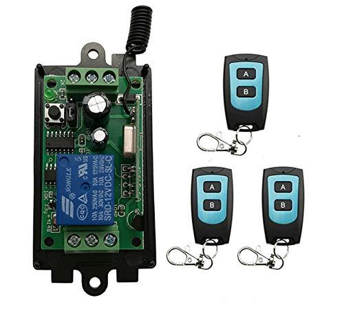 C   9V   315 DC 9V 12V 24V 1 CH 1CH Radio Controller RF Wireless Relay Remote Control Switch Transmitter+Receiver Garage Doors Window lamp  (color  D, Voltage  24V, Size  433)
