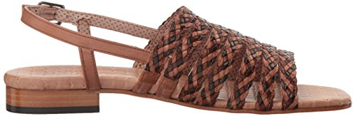 Stained Calf Stain Beige Calf Multi Natural Meucci Sandal Sesto Women's Flat Geppy YAwqHC