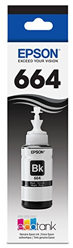 Epson Ink Refill - Epson T664120 EcoTank Black Ink Bottle