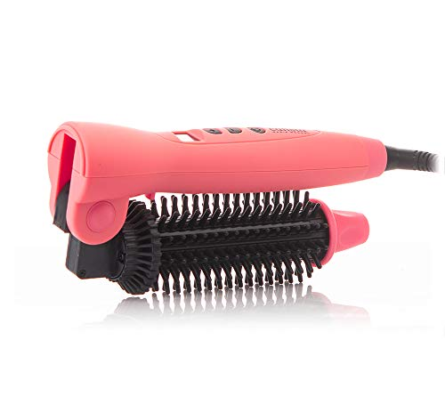 Calista Tools Perfecter Pro - Flip-Top Heated Hair Brush Ceramic and Ionic heated round brush - salon-quality style, digital temperature control panel 1.5 Inch (Coral) by Calista Tools (Image #2)