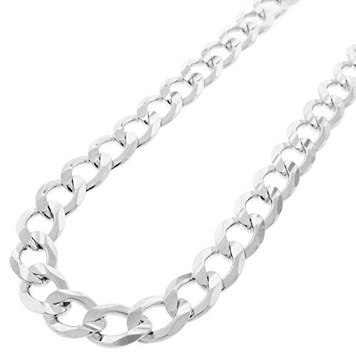 Sterling Silver Italian 10.5mm Cuban Curb Link ITProlux Solid 925 Necklace Chain 24