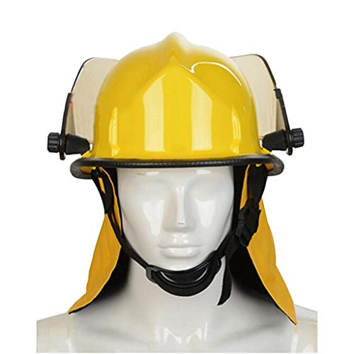 Hard Hat Fire Safety Helmet, Firemen Protection Hard Hat Rescue Site Safety Helmet, Flame Retardant High Temperature Resistance Mask by Moolo (Image #5)