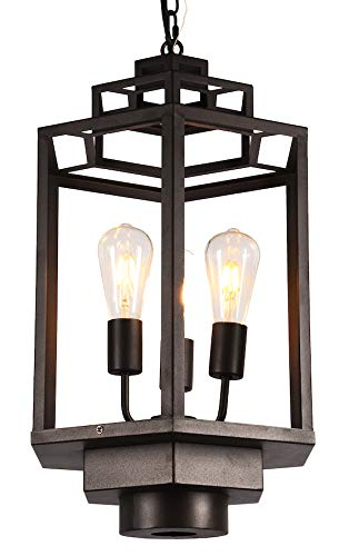 Amazon.com: Lámpara colgante de mano de AMERICAN con cúpula ...
