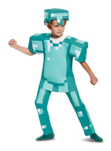 Armor Deluxe Minecraft Costume, Blue, Small (4-6)