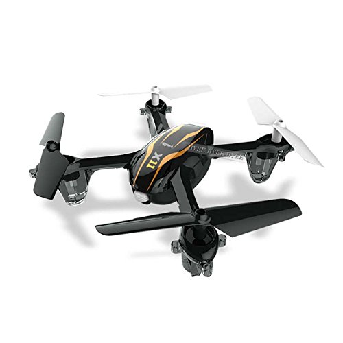 Syma X11 2.4GHz 4CH 6-Axis Gyro 360-degree Eversion Mini Remote Control Helicopter R/C Quadcopter Drone UFO with LED Lights Propeller Protector - Black